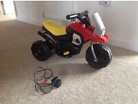 Rechargeable motorbike ride on toy