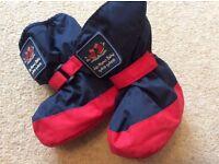 JoJo Maman Fleece Lined Winter Boots size 0-6m