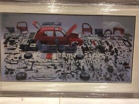 Mounted and framed VW Golf picture