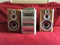 JVC stereo system and speakers
