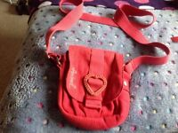 Small Red Animal Messenger Bag in Perfect Condition