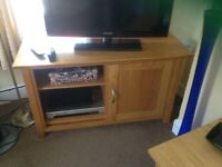 Television and video unit in oak