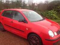 "Vow polo E , 03 plate in red"" LOW MILEAGE """