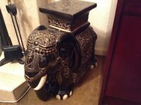 Large ceramic elephant ornament,vintage 1980, in excellent condition, please phone for details