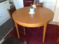 Dining table, 45 inches diameter. Be good upcycling project. Nice condition