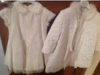 Girls christening dress and coat