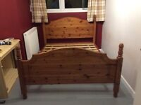 Pine double bed frame. Good condition. Solidly built. Now dismantled. £20
