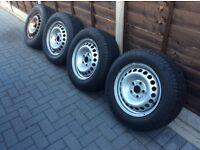"""Vw T5 set of 4 16"""" steel wheels"""