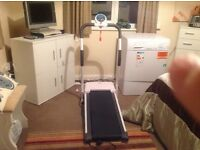 For sale new fold away treadmill only used twice.