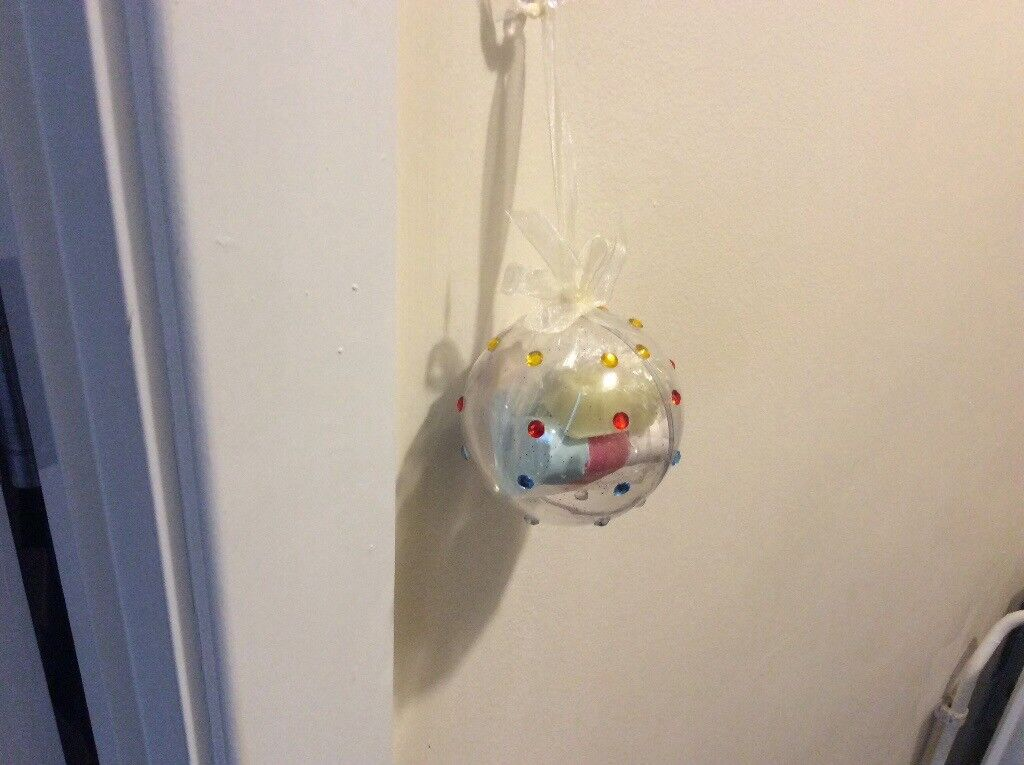 Handmade Christmas baubles with four heart shaped soaps inside,perfect for christmas