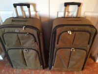 Two large suitcases