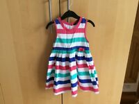 Pretty striped summer dress, George, 2-3 years, excellent condition
