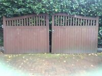 Wooden gates for driveway