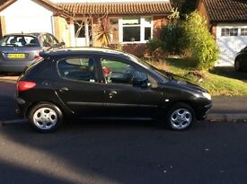 Peugeot 206 GTX black - 3 weeks MOT