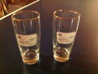 Rare Tuborg Half Pint Lager Glasses