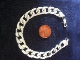£15 New 1oz 925 solid silver curb bracelet