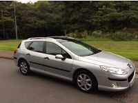 PEUGEOT 407 SW 2.0HDI ESTATE DIESEL. NEW MOT. CAMBELT REPLACED. GOOD CONDITION.