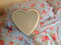 Cute heart mirror