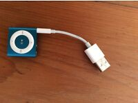 Apple iPod shuffle excellent condition with charger -blue