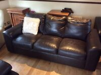 Real leather brown 3&2 suite perfect condition phone Derry 71351092