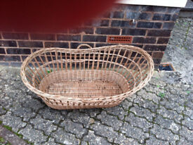 Vintage Moses Style Storage Basket