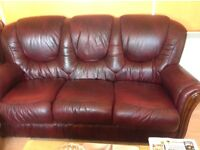 3 piece leather sweet immaculate