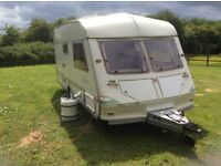 2 Berth ABI Jubilee Equerry Caravan – with awning & everything needed to hook up and use.