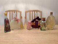 7 bottles of bath oils