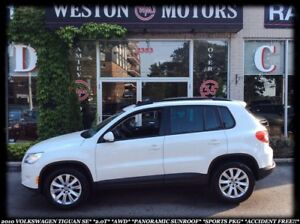 2010 Volkswagen Tiguan 2.0T*AWD*PAN SUNROOF*SPORTS PKG*ACCIDENT