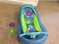 Fisher price baby bath suitable from birth