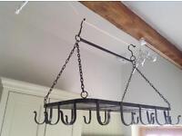 Hanging hooked pan rack