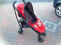 Cosatto pushchair stroller, good condition, includes free hood and cosy ties