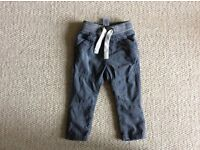 Boy's grey cord trousers/ jeans from next 9-12 months
