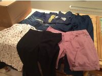 Job lot of clothes for car boot trousers jeans waterproof trousers shorts tops