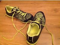 Trespass trainers (sports shoes). Yellow and black. Size 11 or 45
