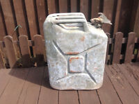 Large Metal Jerry Can (Petrol/Diesel) Vintage Car Land Rover Truck