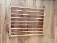 Wooden baby safety gate
