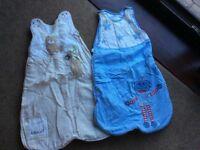Two baby boy sleeping bags