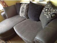 Right hand 4 seater corner sofa.