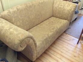 Small narrow chintz sofa, needs tlc but ideal for hallway