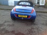 Ford streetka,first reg March 2005, mileage 29500 excellent condition,drives well,