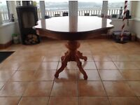Inlaid dining table (no chairs) not an antique