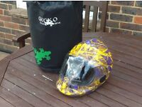 Gecko full face helmet and gecko bag. only used twice ,excellent condition