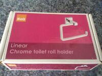 Brand new chrome toilet roll holder
