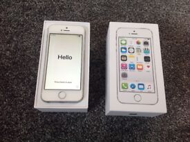 Apple iPhone 5s Silver 16gb Unlocked With Unused Accessories