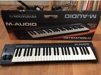 M-Audio Keystation 49 USB/MIDI Keyboard Controller with Synth-Action Velocity-Sensitive Key