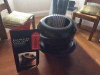 Unused fondue set. Enamelled black cast iron with all accessories. Unwanted gift.