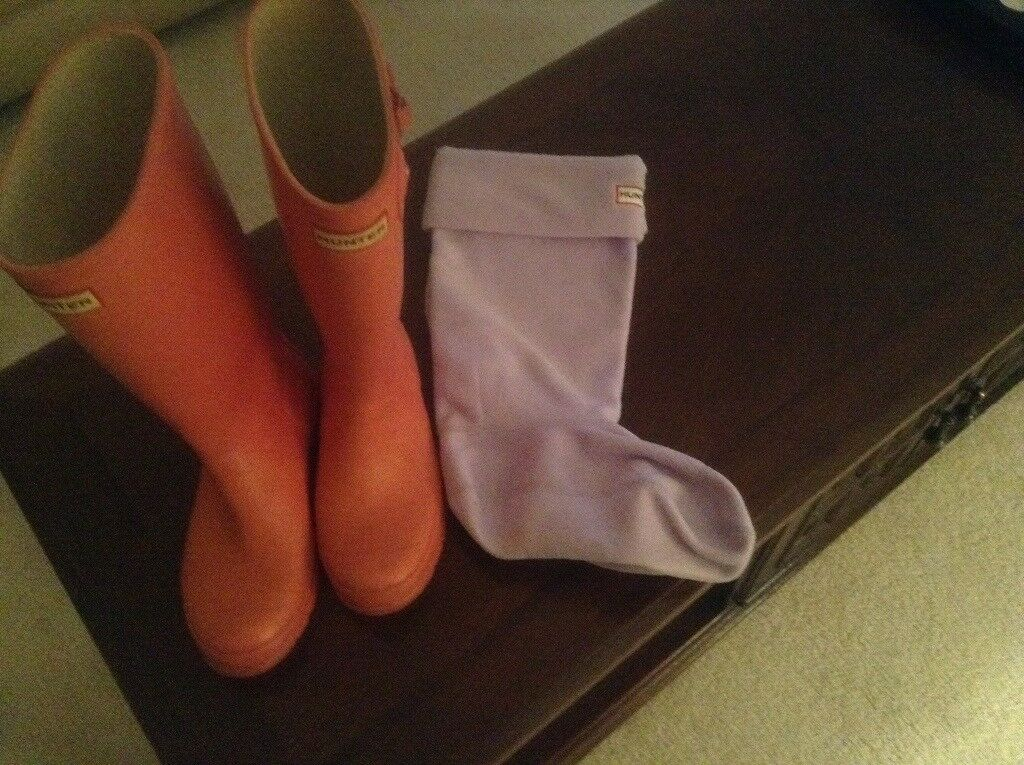 HUNTER LADIES PINK WELLINGTONS SIZE 4