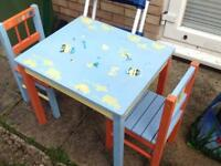 Children's ikea table and chairs