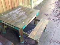 ELC Wooden sandpit and water table FREE